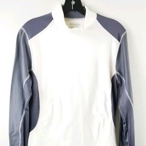 Layer 8 M White Gray Base Layer Quick Dry Top